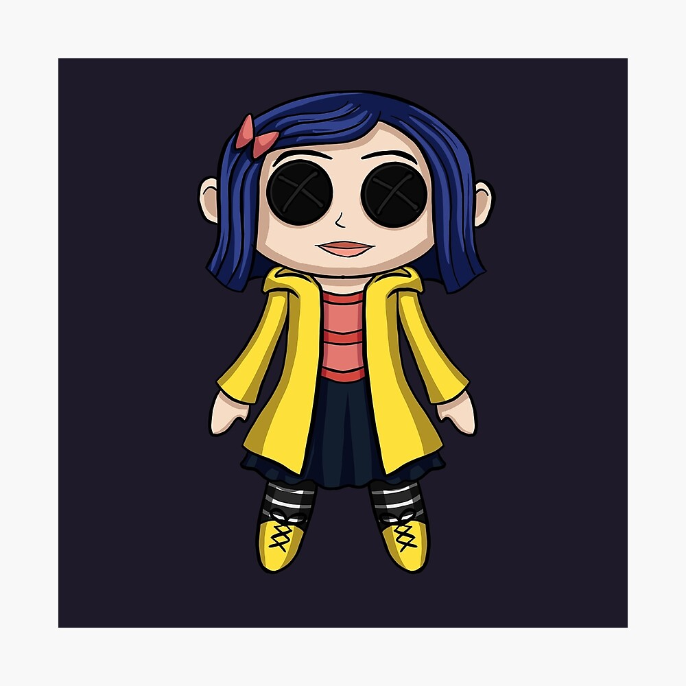 Coraline Doll Chibi Poster By Sarahwilliams19 Redbubble