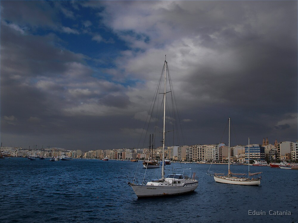 The Ferries Sliema Malta by Edwin  Catania