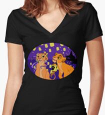 See the Light - Cubs Women's Fitted V-Neck T-Shirt
