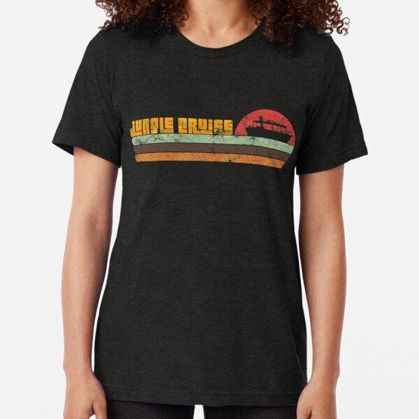 Jungle Cruise 1970's surf shirt (Distressed) Tri-blend T-Shirt