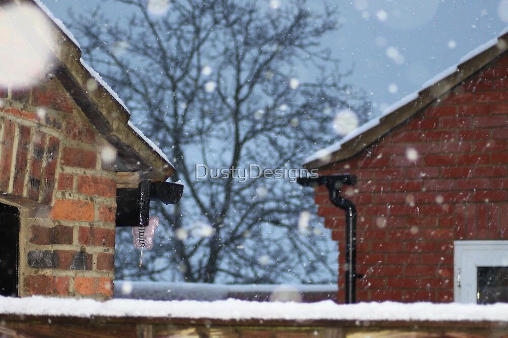 snow on the roof tops by DustyDesigns