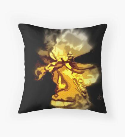 cromagnon fragment - bronze Throw Pillow