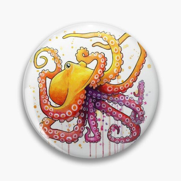 Octopus Sunrise Pin