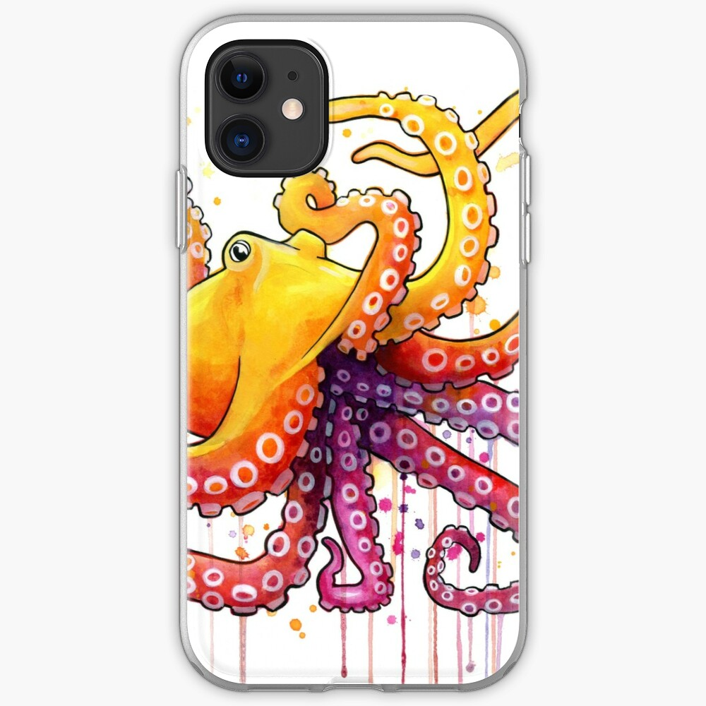Octopus Sunrise iPhone Case & Cover