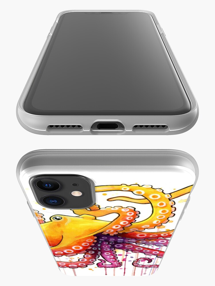 Alternate view of Octopus Sunrise iPhone Case & Cover