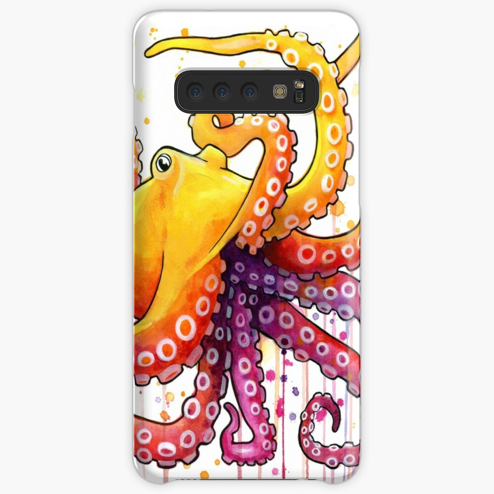 Octopus Sunrise Case & Skin for Samsung Galaxy