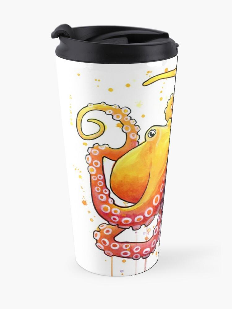 Alternate view of Octopus Sunrise Travel Mug