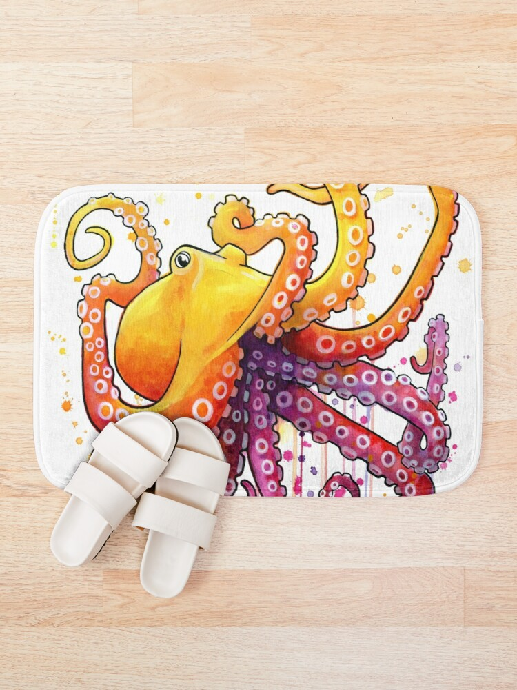 Alternate view of Octopus Sunrise Bath Mat