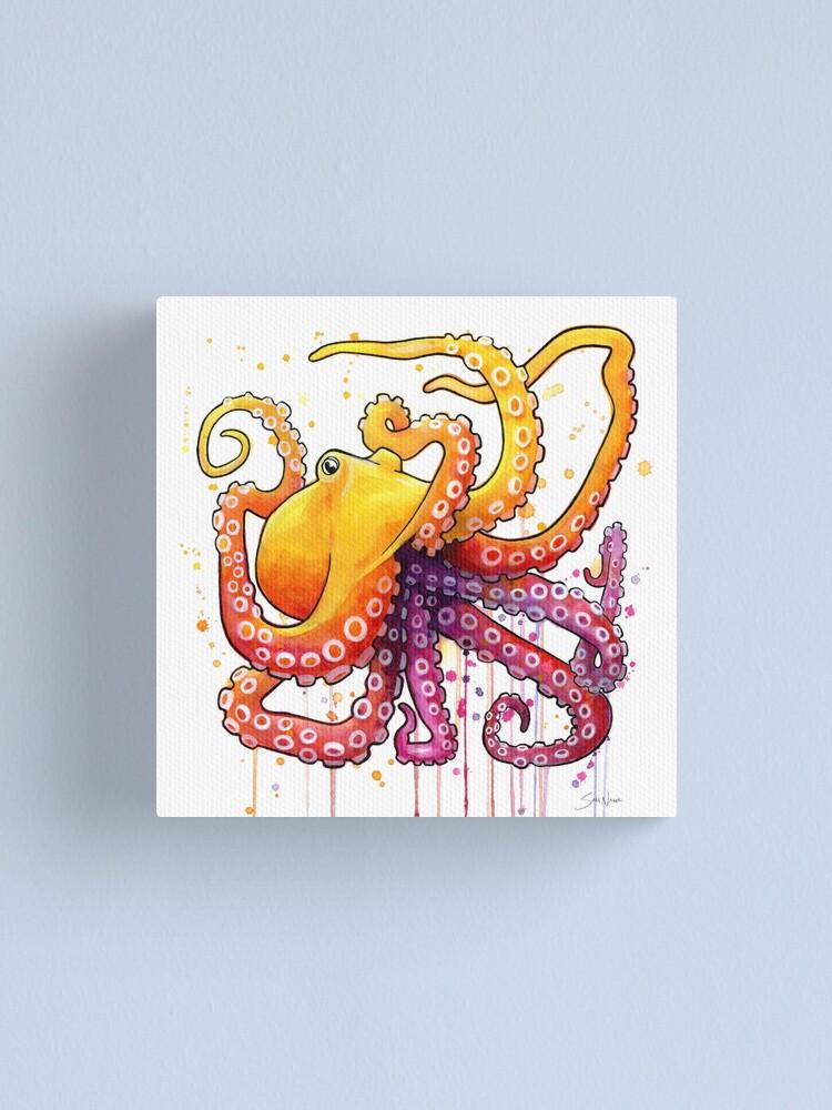 Alternate view of Octopus Sunrise Canvas Print