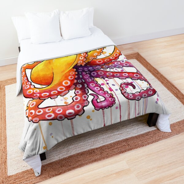 Octopus Sunrise Comforter