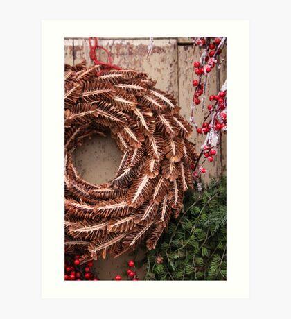 Christmas Wreaths Art Print