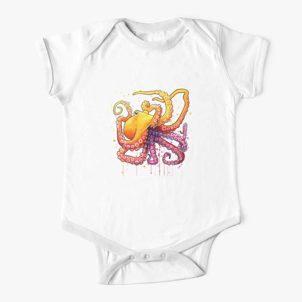 Octopus Sunrise Baby One-Piece