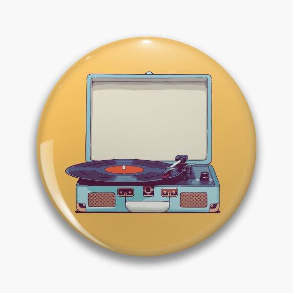 Tourne-disque vinyle bleu Badge
