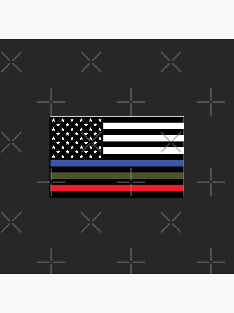 Police, Military and Fire Flag by CM-PD