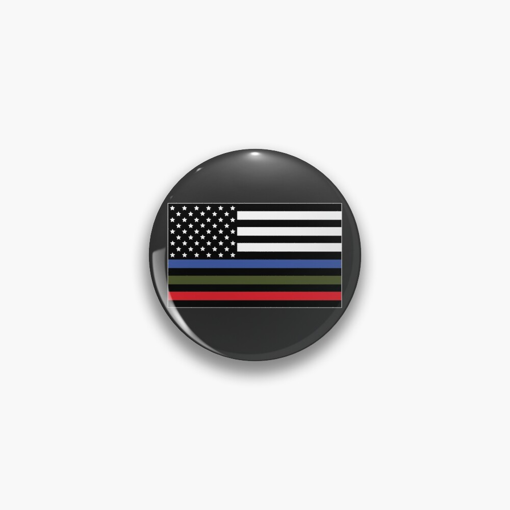 Police, Military and Fire Flag Pin