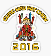 Chinese New Year 2016 Gung Hay Fat Choy Sticker