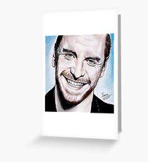 Michael Fassbender - smile ! Greeting Card