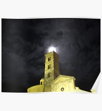 Moon over Saint Christine church Poster