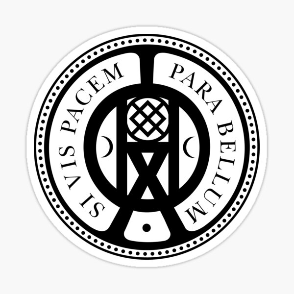The High Table Si Vis Pacem Parabellum Seal Pegatina