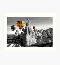Hot Air Balloons Over Capadoccia Turkey Art Print