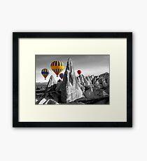 Hot Air Balloons Over Capadoccia Turkey Framed Print