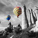 Hot Air Balloons Over Capadoccia Turkey - 2 by Paul Williams