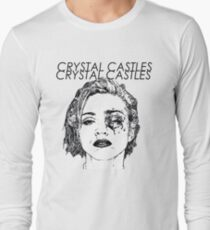 Crystal Castles Shirt RETRO Long Sleeve T-Shirt