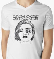 Crystal Castles Shirt RETRO Men's V-Neck T-Shirt