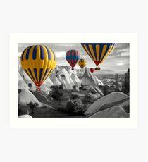 Hot Air Balloons Over Capadoccia Turkey - 3 Art Print