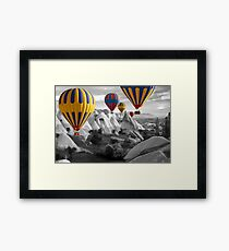 Hot Air Balloons Over Capadoccia Turkey - 3 Framed Print