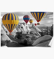 Hot Air Balloons Over Capadoccia Turkey - 3 Poster