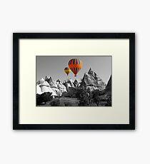 Hot Air Balloons Over Capadoccia Turkey - 5 Framed Print