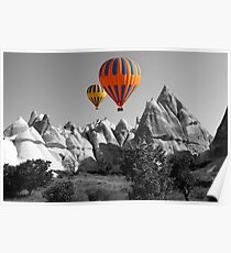 Hot Air Balloons Over Capadoccia Turkey - 5 Poster