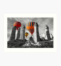 Hot Air Balloons Over Capadoccia Turkey - 6 Art Print