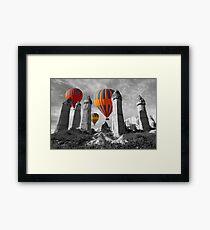 Hot Air Balloons Over Capadoccia Turkey - 6 Framed Print