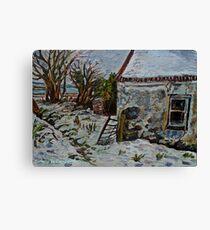'Deserted Cottage, Ballyharry, County Antrim' Canvas Print