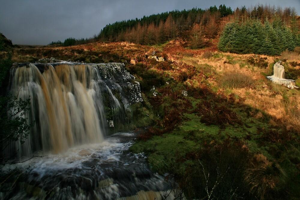 Araglin Waterfall, Co Waterford, Ireland by John  Carey
