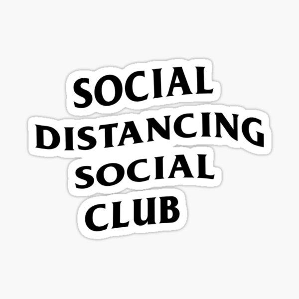 Social Distancing Social Club Sticker