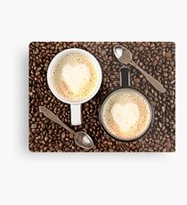 Caffe Latte for two Metal Print