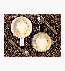 Caffe Latte for two Photographic Print
