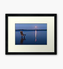 Moon view  Framed Print