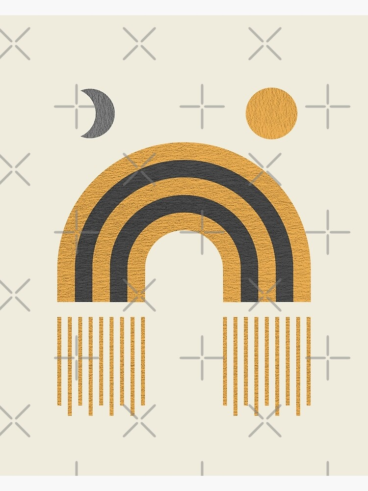 Moon & Sun - Mid century modern by moonlightprint