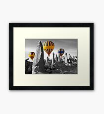 Hot Air Balloons Over Capadoccia Turkey - 8 Framed Print