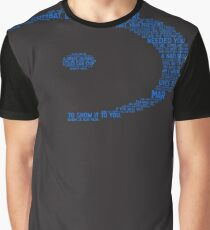 Halo Typography [Blue] Graphic T-Shirt