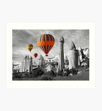 Hot Air Balloons Over Capadoccia Turkey - 9 Art Print