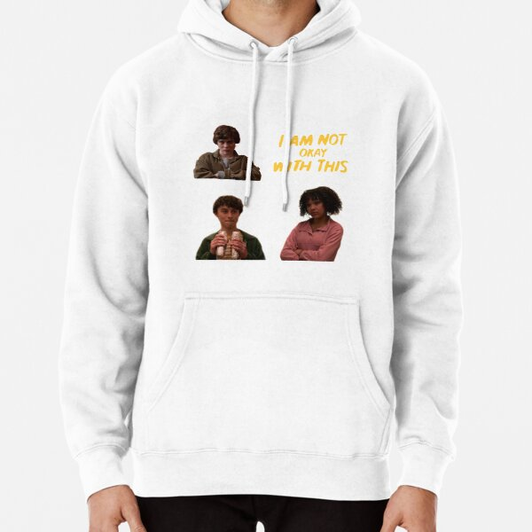 I am not okay with this sticker set Pullover Hoodie
