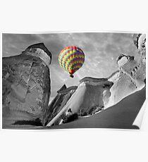 Hot Air Balloons Over Capadoccia Turkey - 10 Poster
