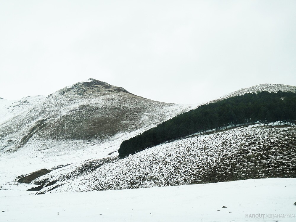Armenian Mountains in winter  by Harout Abrahamyan