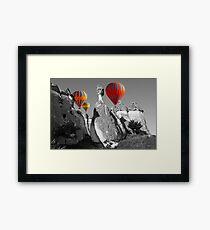 Hot Air Balloons Over Capadoccia Turkey - 11 Framed Print