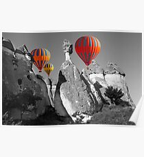 Hot Air Balloons Over Capadoccia Turkey - 11 Poster